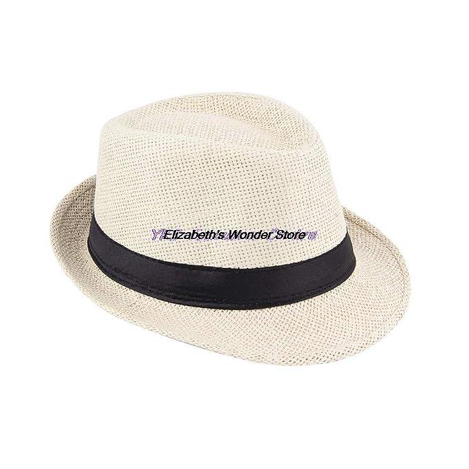 7e955399 Summer Bucket Hat Men Women Straw Hat Beach Sunhat Fedora Trilby Straw  Panama Gangster Caps Fit