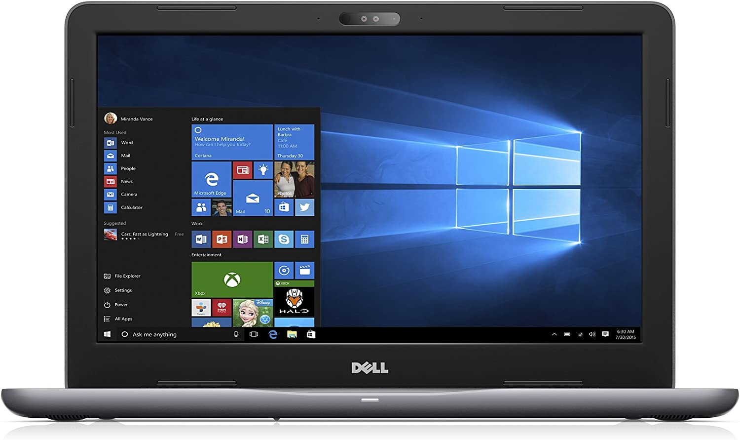 Dell i5567-5734GRY-PUS 15.6in Traditional Laptop Matte Gray IMR, (Non Touch HD) (Renewed)