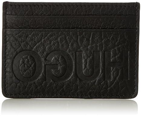 HUGO BOSS HUGO Victorian L_s Card, Porte-cartes d'identité (Card Cases) homme, (Black), 1x7x10 cm (B x H T)