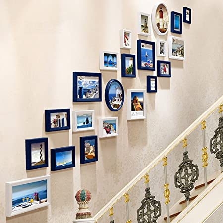 Photo Frame Collage Solid Wood Photo Frame Combination Of Painted Staircase  Photo Wall Creative Accessories Commemorative
