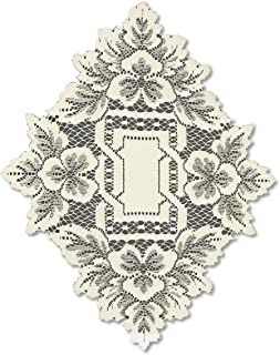 product image for Heritage Lace Heirloom 12-Inch by 9-Inch Doily, Ecru, Set of 2