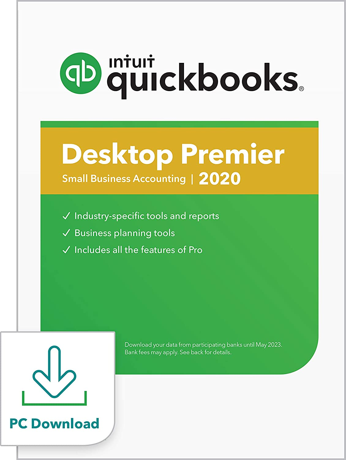 QuickBooks DesktopPremier 2020Accounting Software for Small Business withShortcut Guide [PC Download]