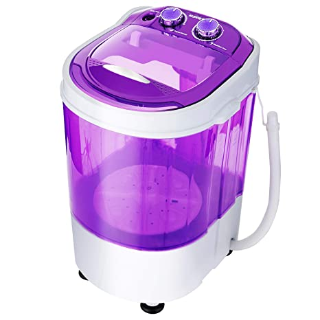 KUPPET Mini Portable Washing Machine for Compact Laundry,Small  Semi-Automatic Compact Washer with Timer Control Single Translucent Tub  (Purple, 7lbs)