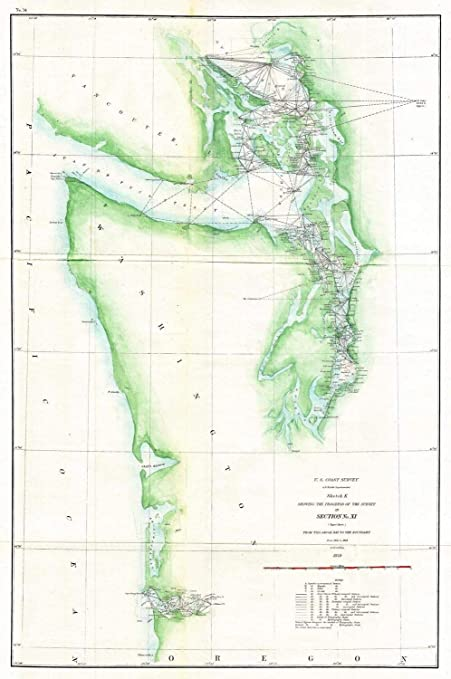 Amazoncom Historical 1859 Us Coast Survey Map Of The Puget Sound - Puget-sound-on-us-map