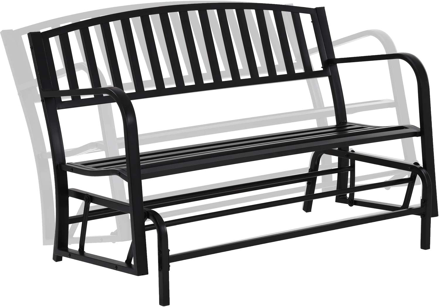 Patio Glider Bench Garden Bench for Patio Outdoor Bench Metal Bench Park Bench Cushion for Yard Porch Clearance Work Entryway