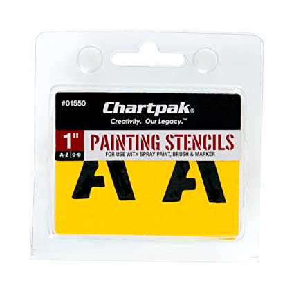 chartpak letter and number painting stencils a z and 0 9 1 inch h