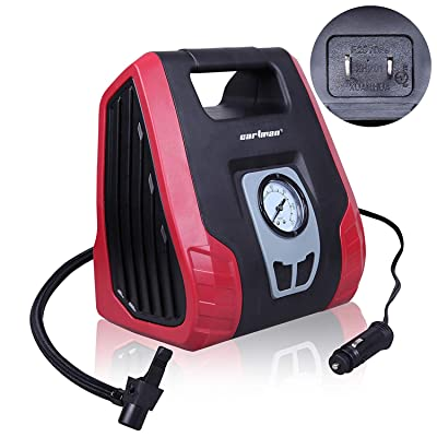 CARTMAN AC/DC Heavy Duty Air Compressor, Air Inflator for Home (110V) and Car (12V): Automotive