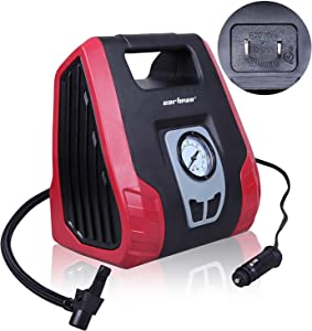 CARTMAN AC/DC Heavy Duty Air Compressor, Air Inflator for Home (110V) and Car (12V)