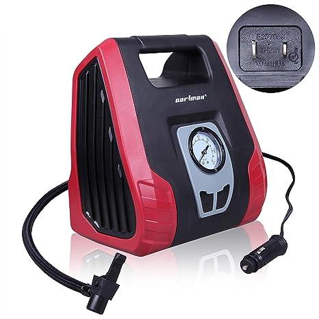 Amazon.com: CARTMAN AC/DC Heavy Duty Air Compressor, Air Inflator for Home (110V) and Car (12V): Automotive