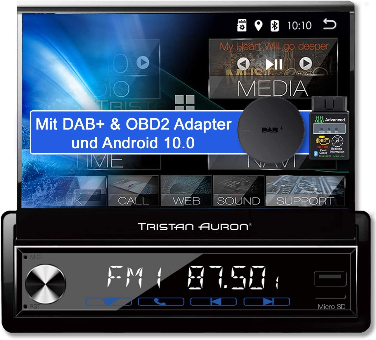 Tristan Auron Bt1d7027a Android 10 0 Car Radio 32 Gb Elektronik
