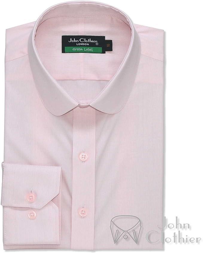 WhitePilotShirts Mens Tab Collar Grey Oxford Shirt 100/% Cotton Long Sleeves Single Cuff Gents 300-14