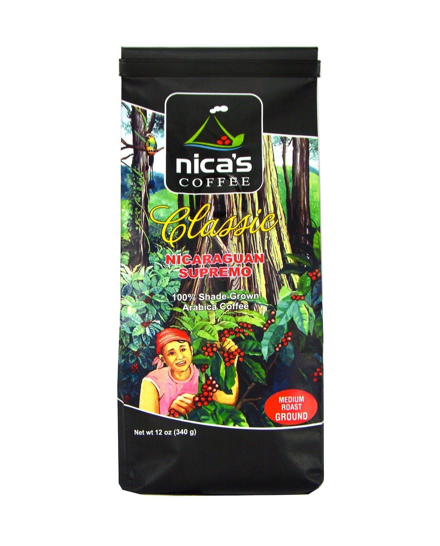 Classic – nica de nigaraguan Supremo Café, Medio asado ...