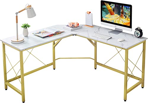 Mr IRONSTONE L-Shaped Desk 59″ Computer Corner Desk