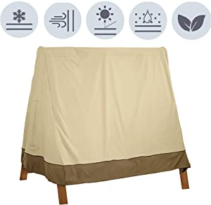 boyspringg Patio Swing Cover A-Frame Waterproof UV Resistant Weather Protector Patio Furniture Cover for Garden Courtyard