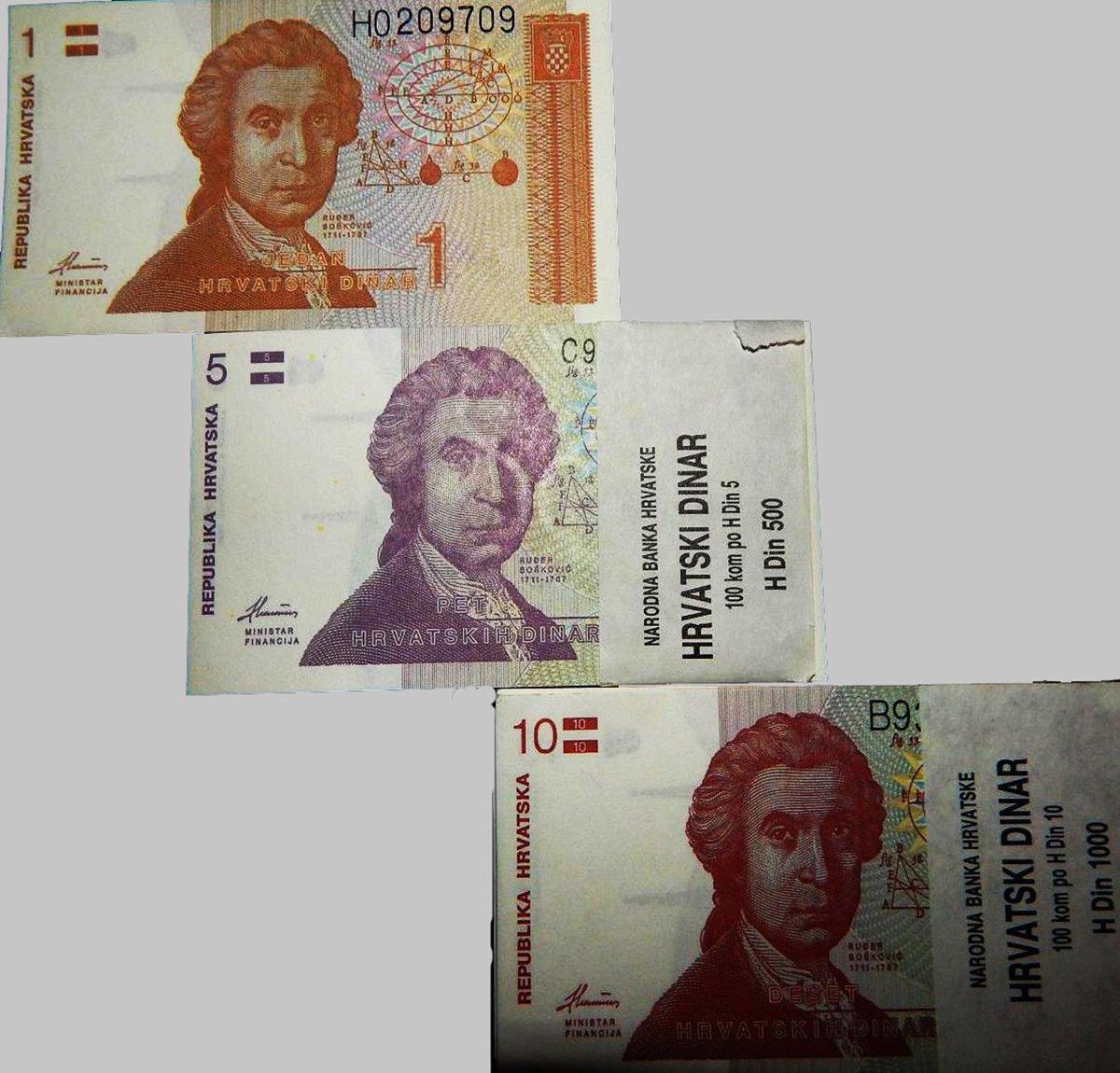 Buy 3 All Different Original 1 5 10 Hrivatska Kuna Croatia Rare