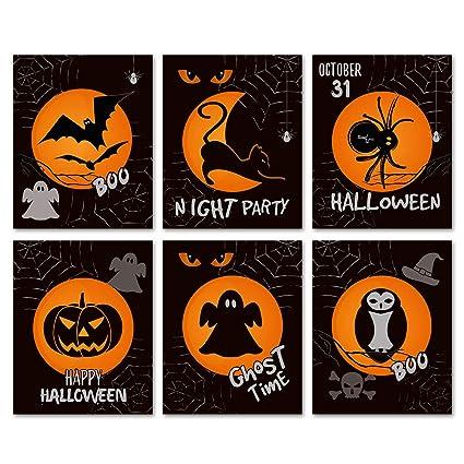 Amazon.com: SUMGAR The Bat Moon Night Wall Art Prints Black Paper ...