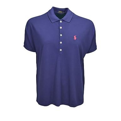 Polo Ralph Lauren ample bleu marine pour femme: : Vêtements