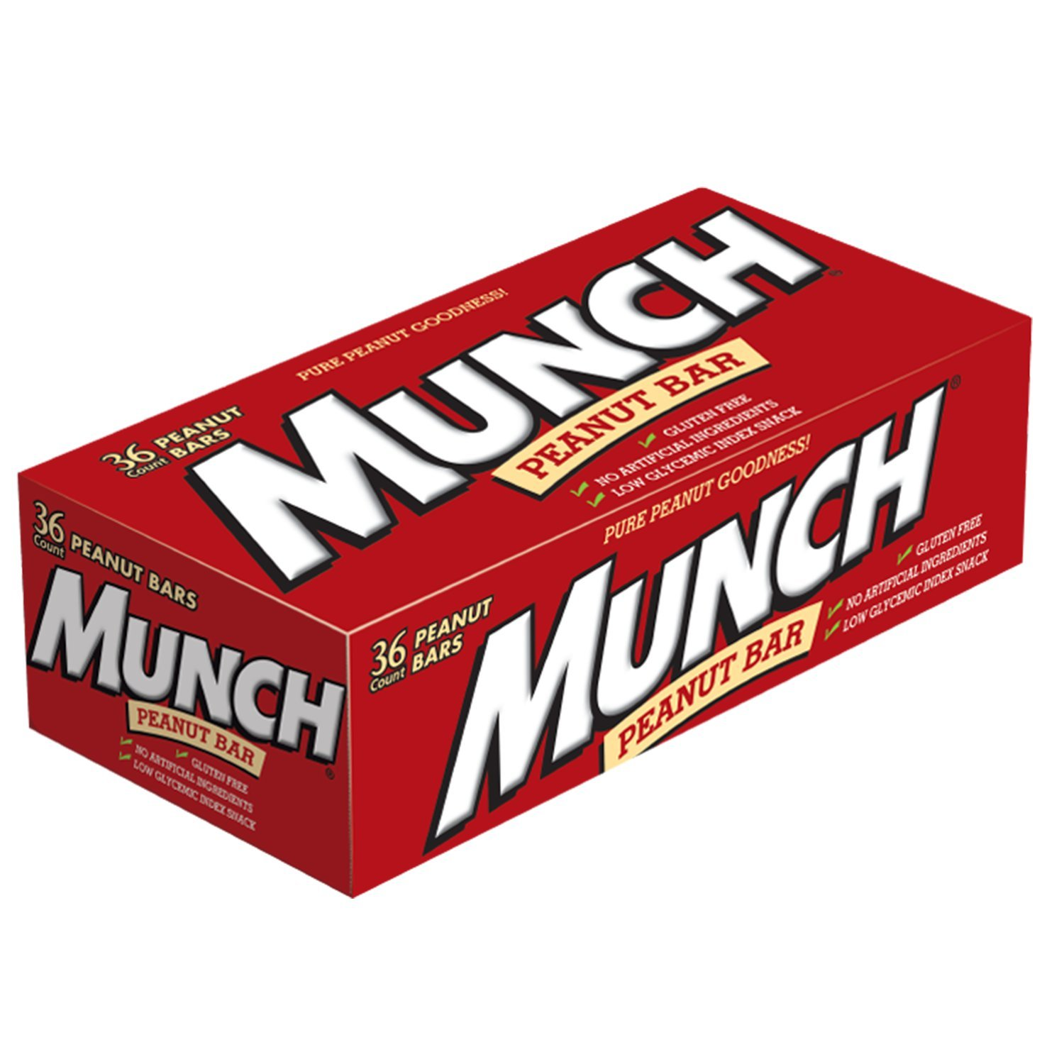 MUNCH Peanut Bar Singles Size 1.42-Ounce Bar 36-Count Box by Munch