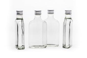 20 Leere Glasflaschen 100 Ml Taschi Mit Schraubverschluss Zum Selbst