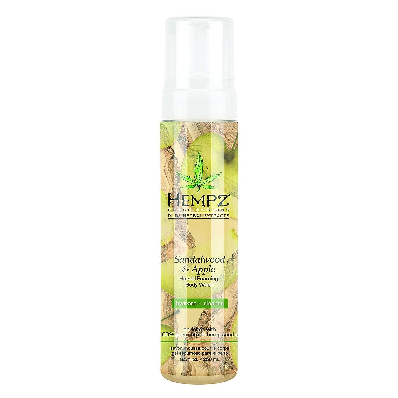 Hempz Sandalwood & Apple Herbal Foaming Body Wash, 8.5 oz.