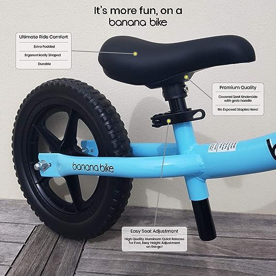Banana Bike LT - Bicicleta Sin Pedales Ligera - Niños 2, 3 y 4 Años (Azul): Amazon.es: Juguetes y juegos