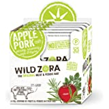 Wild Zora Apple All Natural Pork & Organic Veggie Bars (10 pack) - AIP-friendly, No Nightshades, Gluten-Free, No Antibiotics, No Added Hormones
