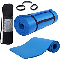 JS One Yogamatta 15 mm tjock halkfri träning fitness physio pilates gymmatta 185 x 80 cm