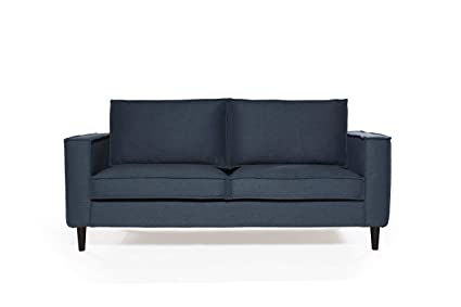 Pleasant Amazon Com Sofas 2 Go S2G F2 S 332 N Tate Collection Navy Dailytribune Chair Design For Home Dailytribuneorg