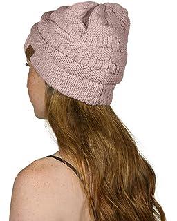 83fe5cf1882 C.C Thick Slouchy Knit Unisex Beanie Cap Hat