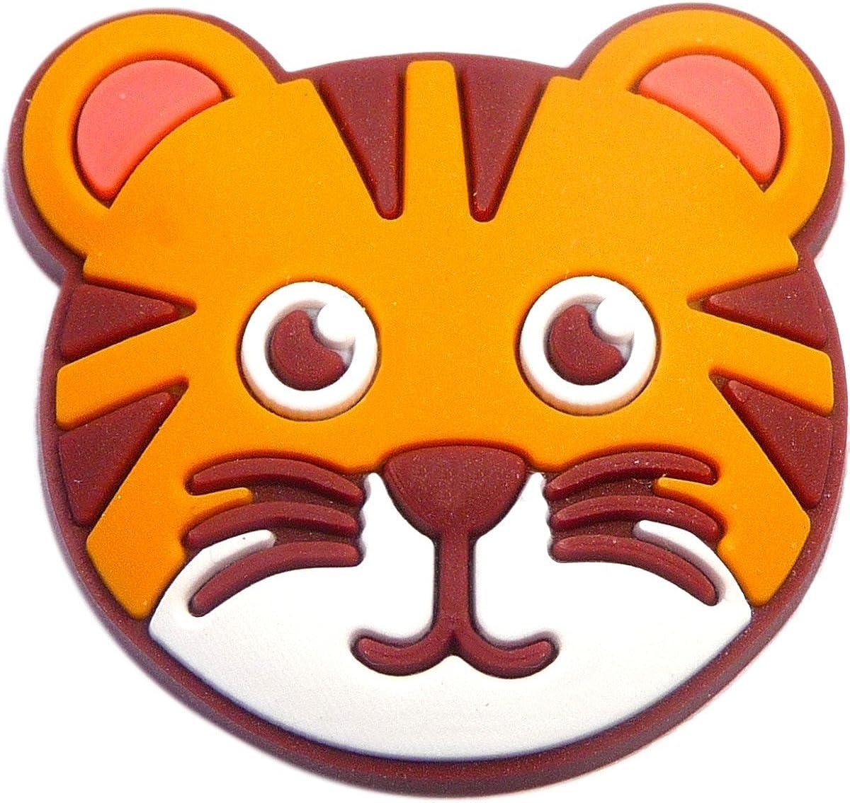 TIGER JIBBITZ TIGER SHOE CHARMS FITS CROCS TIGER CLOG CHARMS TIGER CHARMS