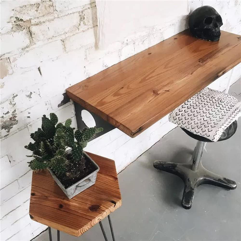 Industrial Rustic Wall-Mounted Table, Dining Table
