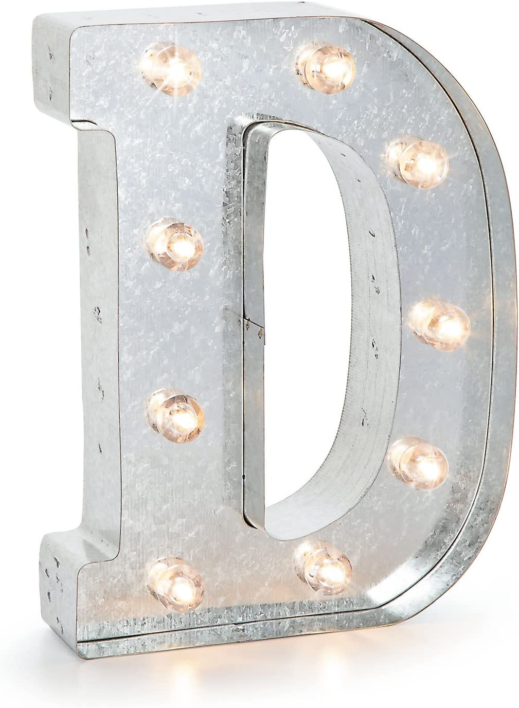 Darice Marquee Letters - D - Galvanized Silver - 9.875 inches