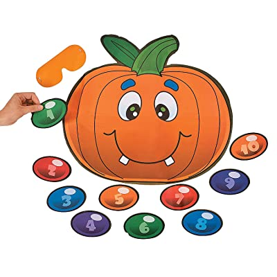 Fun Express Halloween Game Pin The Nose On The Pumpkin (up to 10 Players): Toys & Games