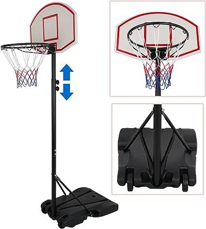 Amazon.com: ZENY - Soporte y borde de baloncesto portátil ...