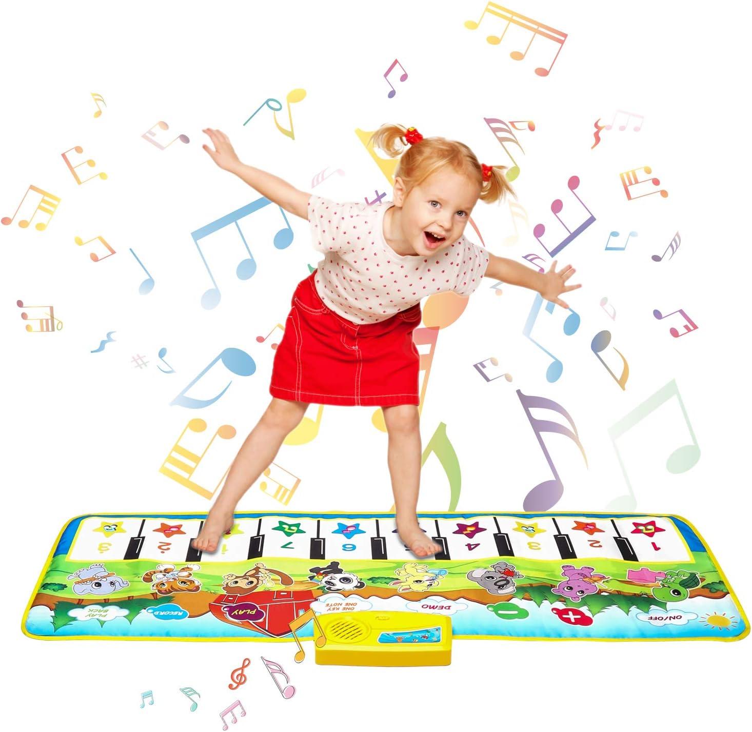Shayson Alfombra para Piano,Alfombra para Piano Musical Educativa Electrónica Portátil 100*36 cm para Bebé, Niño, Niña Navidad Halloween Regalo
