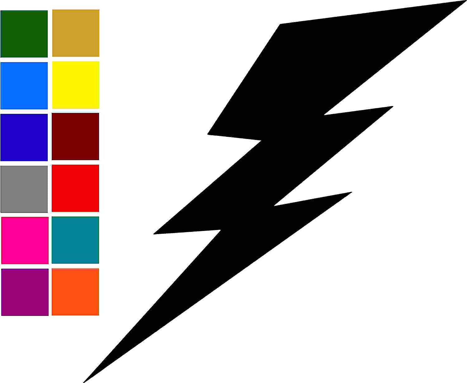 Lightning Bolt Quote Car Window Tumblers Wall Decal Sticker Vinyl Laptops Cellphones Phones Tablets Ipads Helmets Motorcycles Computer Towers V and T Gifts