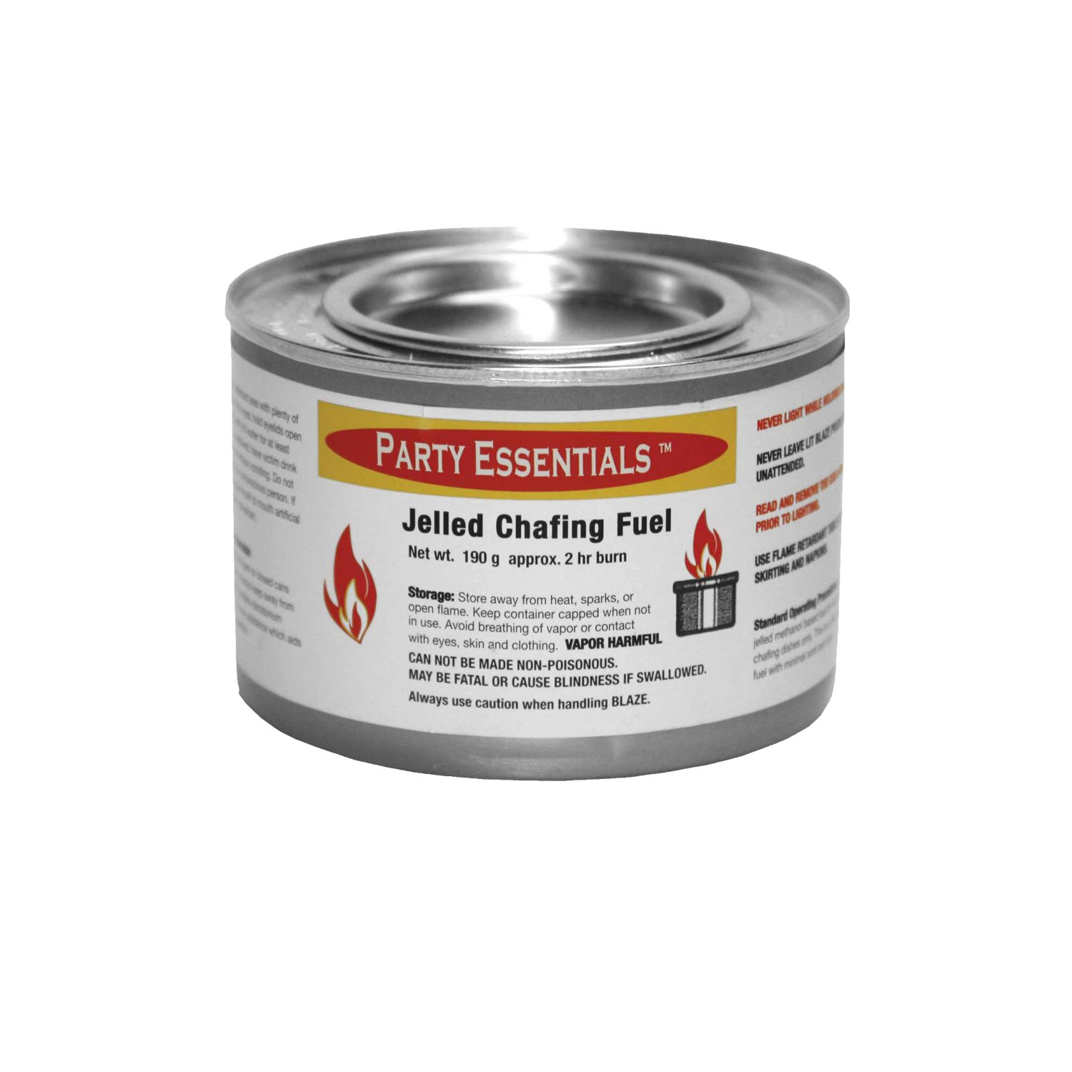 Party Essentials Chafing Dish Jelled Methanol Warming Fuel, 6-Pack by Party Essentials (Image #2)