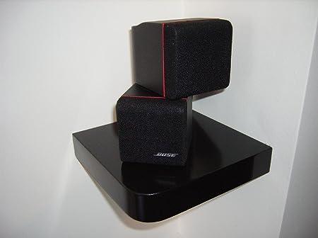 40 X Corner Floating Shelves Surround Sound Speaker Shelf Black Gloss Extraordinary Corner Speaker Shelves