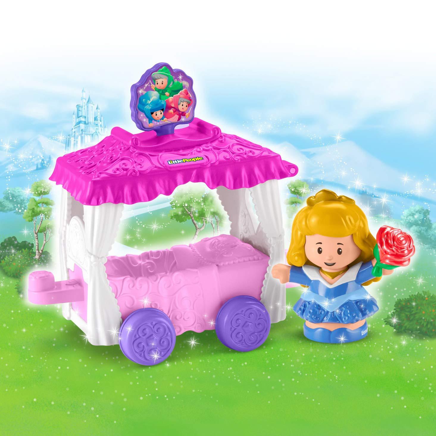 Amazon.com: Fisher-Price Little People Disney Princess Parade Aurora & Fairy Godmothers Float: Toys & Games