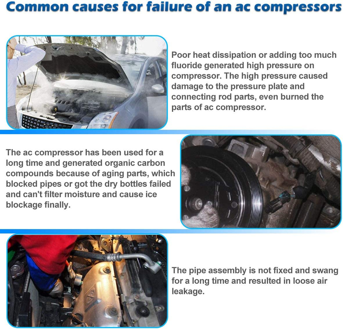 AUTEX AC Compressor and A//C Clutch CO 11319C 3.5L Only Compatible with Maxima 2009-2014 Murano 2009-2014 Pathfinder 2013-2015 Quest 2011-2014