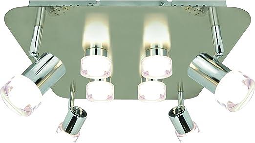 WOFI Deckenleuchte 8 flammig, Serie Antibes, 8 x LED, 4 W
