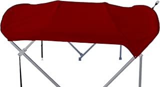 product image for Sunbrella 8' x 8' Replacement Pontoon Bimini Top and Boot (Burgundy)