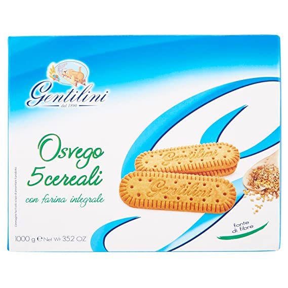 Gentilini Osvego 5 Cereali confezione da 4 x 250 gr Amazon.it Alimentari  e cura della casa