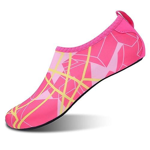 L-RUN Mens Water Skin Shoes Calcetines Aqua para Yoga Peach XL (W: 7.5-8, M: 7.5-8)