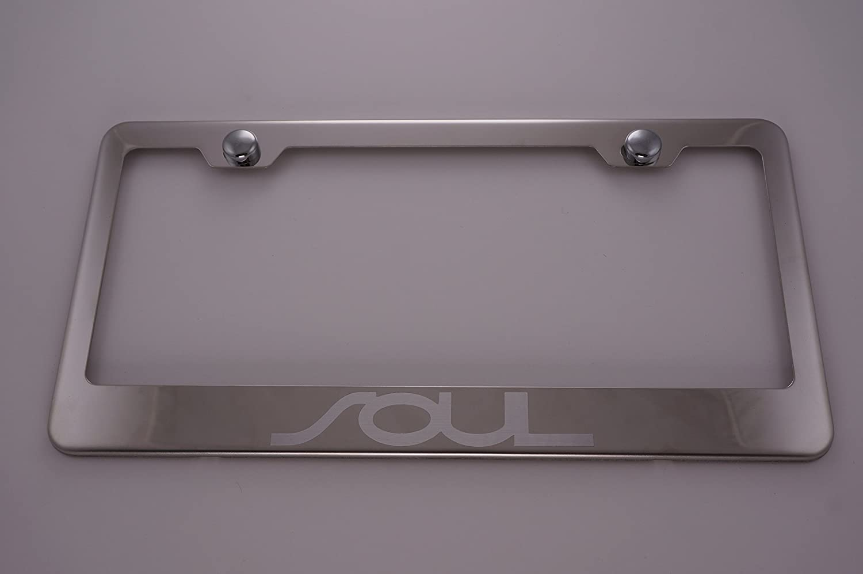 Kia Soul Chrome License Plate Frame with Caps