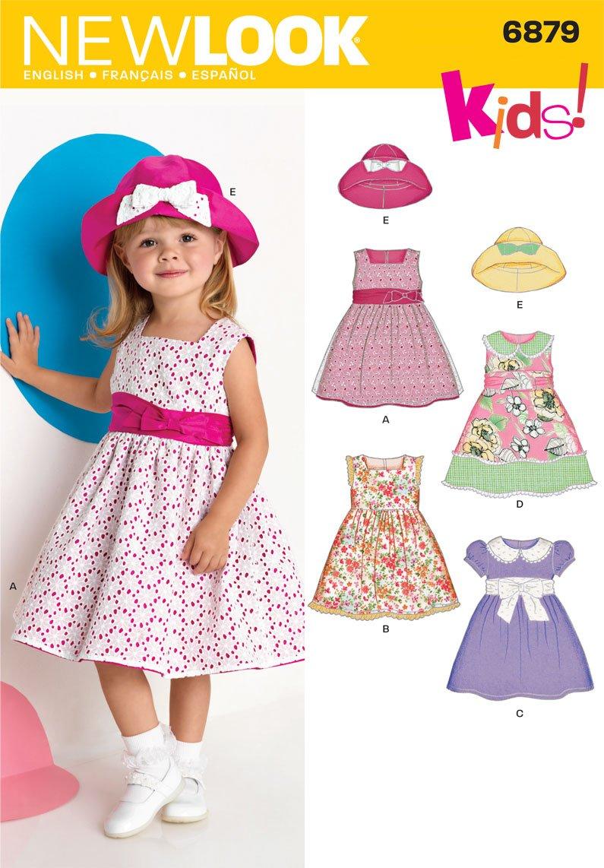 New Look Kleider für Kleinkinder Schnittmuster Nr. 6879 Baby Mütze ...