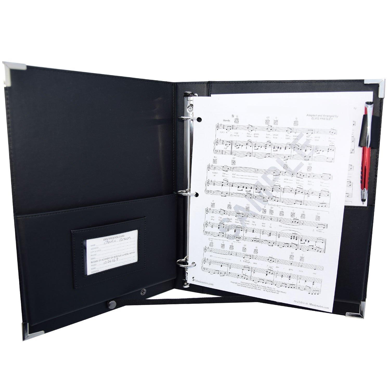 MSP Professional (9.5'' x 12'') Letter Size Music/ Choral Folder w/ Handle & Detachable Strap- Medium (standard shipping)