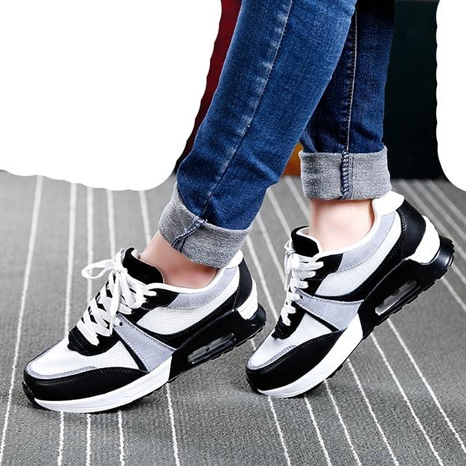 4e782d157844c LFEU Femme Chaussure Compensé pour Sport Outdoor Bulle D Air Maille Running  Confortable Pied Mince Confortable 35-40(Recommandez la Taille Un de Plus)   ...