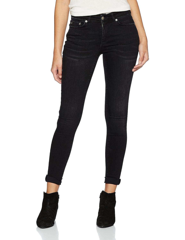 PIECES Pcfive Delly Jeans Black Wash/Noos, Mujer