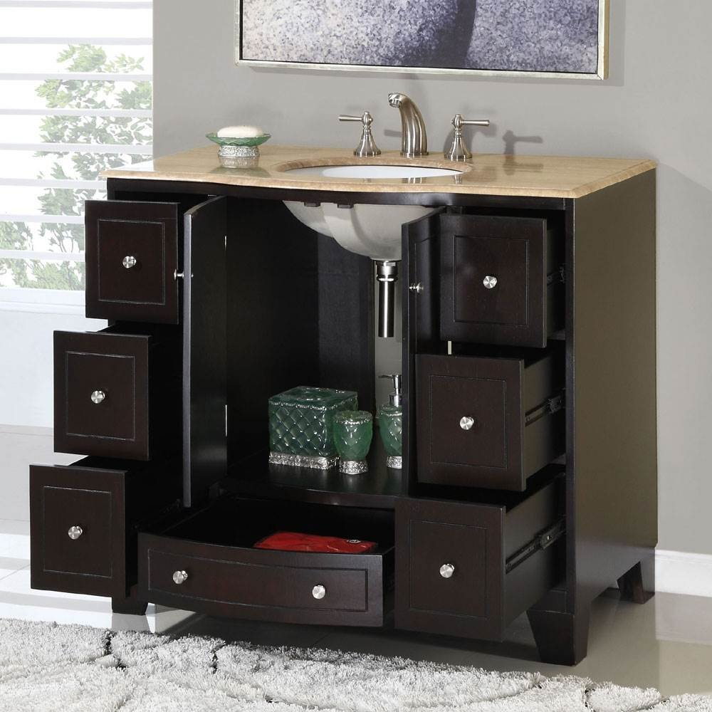 Genial 40 In. Naomi Single Sink Bathroom Vanity In Expresso (White Sink)    Silkroad Vanity   Amazon.com
